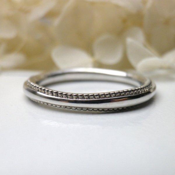 画像1: mille mille ミルミル (結婚指輪 Pt900 2.2mm) (1)