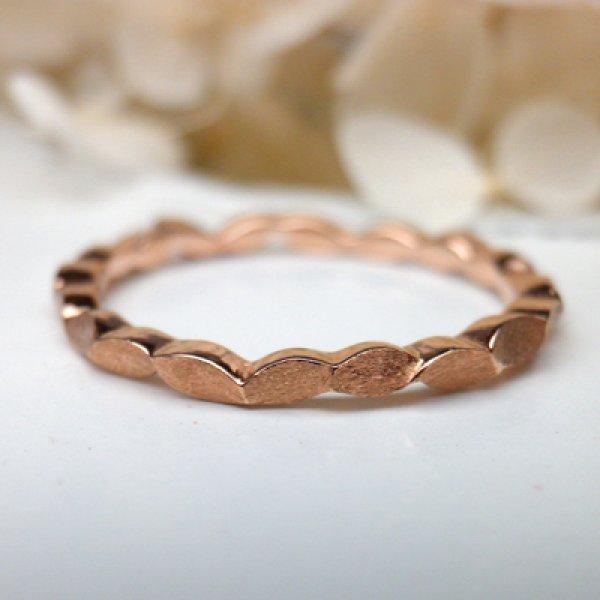 画像1: oeuf ウーフ (結婚指輪 K18ピンクゴールド 1.5mm) (1)
