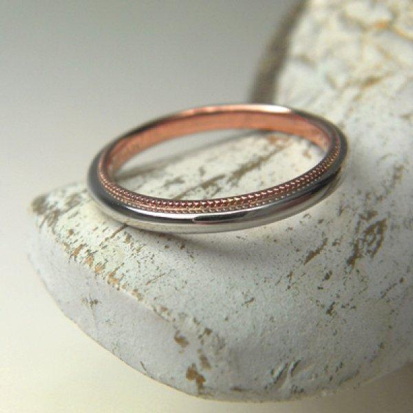 画像1: couleumille クルミル (結婚指輪 プラチナ・ピンクゴールド 2.2mm) (1)