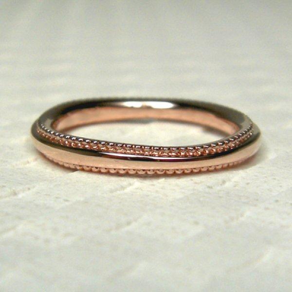 画像1: mille mille ミルミル (結婚指輪 ピンクゴールド 2.2mm) (1)
