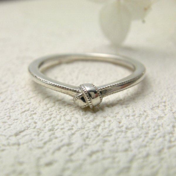 画像1: omusubi お結び ミル打ち (結婚指輪 Pt900 1.3mm) (1)