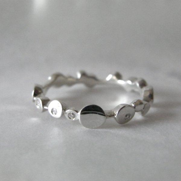 画像1: Rond rond ロンロン (結婚指輪 Pt900 ダイヤ付き) (1)